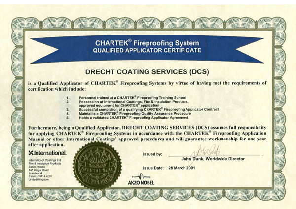 Dcs Coating Certification Passive Fire Protection